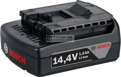 Снимка на  Акумулаторна батерия Bosch GBA 14,4 V 1,5 Ah M-A Professional