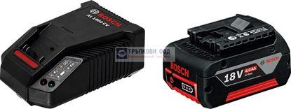 Снимка на  Акумулаторна батерия Bosch Стартов комплект GBA 18 V 4,0 Ah M-C + AL 1860 CV Professional