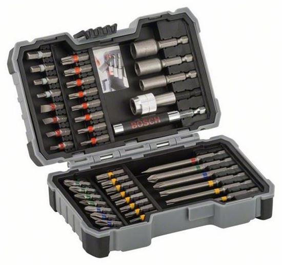 Снимка на Комплект битове и гилзови ключове, 43 части;2607017164