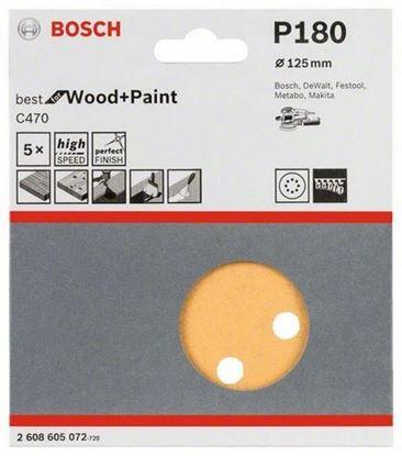 Снимка на Набор шлифовъчни ленти, 5 части;125 mm, P180;2608605072
