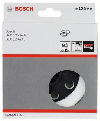 Снимка на Гумена плоча;мека, 125 mm;2608601118