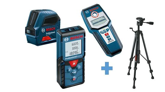 Снимка на Комплект измервателни инструменти GLM 40 + GLL 2-10 + GMS 120 + Статив BT 150