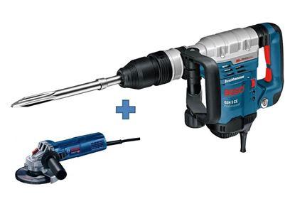 Снимка на Къртач с SDS-max BOSCH GSH 5 CE Professional+Ъглошлайф GWS 9-125mm