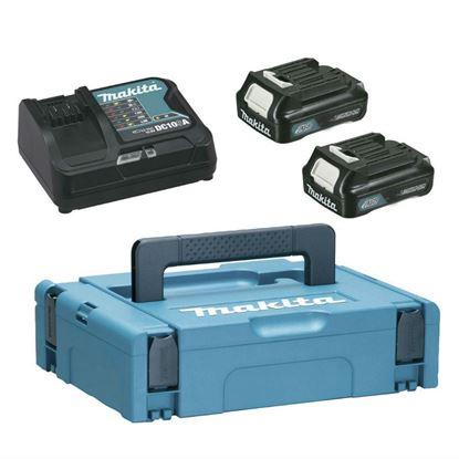 Снимка на Комплект батерии + зарядно устройство Makita 2x 1.5Ah