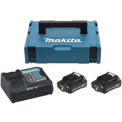 Снимка на Комплект батерии + зарядно устройство Makita 2x 2.0 Ah