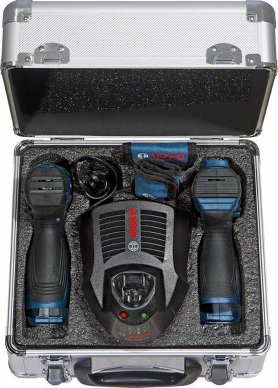 Снимка на ПРОМО!Акумулаторни винтоверт GSR 120 + гайковерт GDR 120 Professional в алуминиев куфар+к-т консумативи