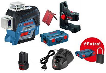 Снимка на НОВО! GLL 3-80 C линеен лазер,ак.батерия GBA 12V 2.0 Ah,L-BOXX + Бонус Bluetooth Катинар в L-BOXX 102