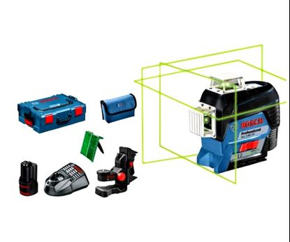Снимка на НОВО! GLL 3-80 CG линеен лазер ак.батерия GBA 12V 2.0 Ah + BM 1 + L-Boxx ++ БОНУС Лични предпазни средства