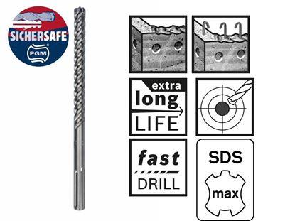 Снимка на Свредло Bosch с цяла карбидна глава за армиран бетон SDS-max-8X 12 x 200 x 340 mm;2608578602