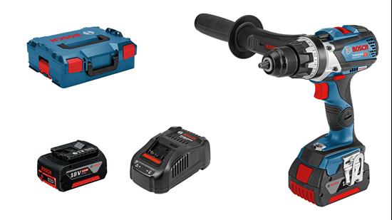 Снимка на НОВО!Акумулаторен винтоверт GSR 18V-85 C Professional+2× 5.0 Ah battery +AL 1880 CV зарядно +L-BOXX 136