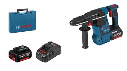 Снимка на Акумулаторен перфоратор GBH 18V-26; 2x 6,0Ah батерии; GAL 1880 CV зарядно устройство; куфар+ БОНУС Лични предпазни средства