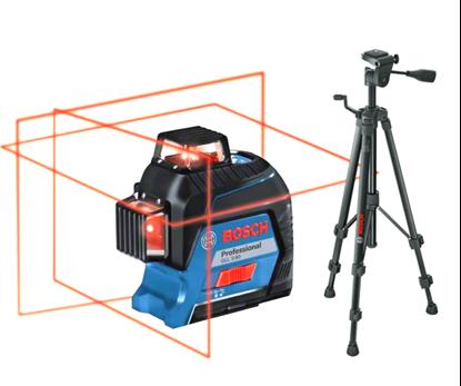 Снимка на НОВО! GLL 3-80 линеен лазер + статив BT 150++ комплект инструменти Wiha