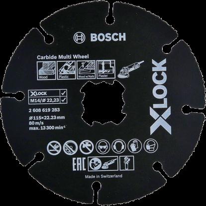 Снимка на X-LOCK Диск Ъглошлайф за Дърво и Пластмаса 115mm;2608619283