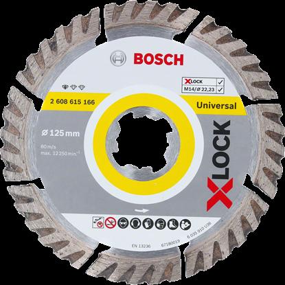 Снимка на X-LOCK Диамантен диск Standard for Universal 125 x 22,23 x 1,6 x 10 mm;2608615166