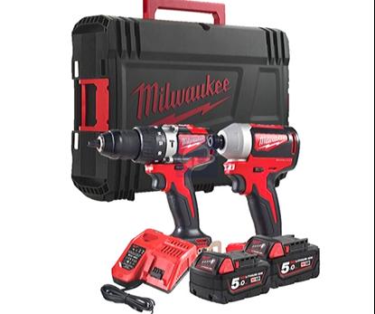 Снимка на Milwaukee сет M18 BLPP2A2-502X,2 батерии 5,0Ah;4933464522