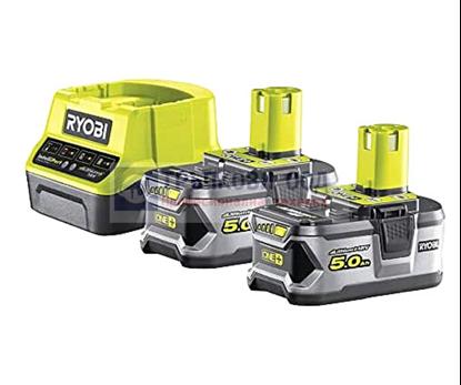 Снимка на Акумулаторен сет RYOBI RC18120-250 Li-Ion battery ONE+ 2 x 5.0Ah + ЗАРЯДНО,5133003364