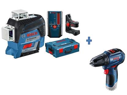 Снимка на промо!GLL 3-80 C Лазерен нивелир + LR7 Professional Приемник+Подарък GSR 12V-30 SOLO