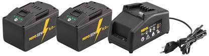 Снимка на REMS Power-Pack  комплект 2 батерии х 22V;9Ah+устройство за бързо зареждане 230V,90W 571592